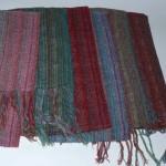 Coloris écharpes mousse soie – tissée main