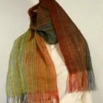 Echarpe mohair tissée main – colori : automne