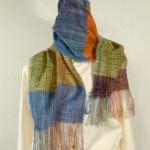 Echarpe mohair tissée main – colori : multicolor