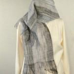 Echarpe mohair tissée main – colori : gris