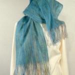 Echarpe mohair tissée main – colori : turquoise