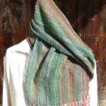 Echarpe en mousse de soie – coloris vert