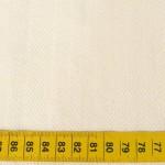 Coton bio et ramie poids : 190gr/m²  – largeur : 150cm – colori : écru
